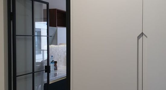 Drzwi loftowe LOFT industrialne metalowe szklane producent szklanych Bydgoszcz 5