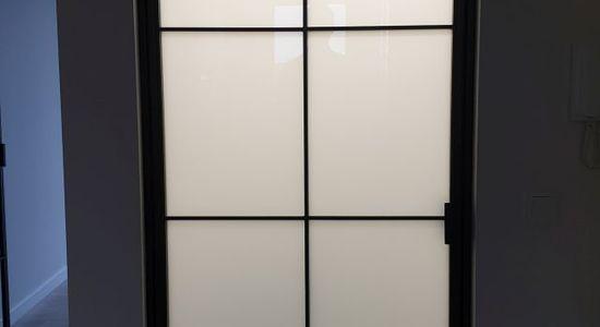 Drzwi loftowe LOFT industrialne metalowe szklane producent szklanych Bydgoszcz 2