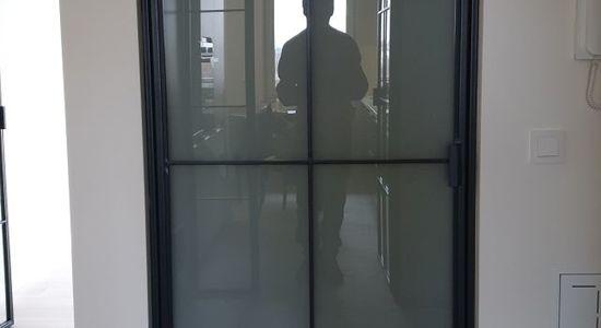 Drzwi loftowe LOFT industrialne metalowe szklane producent szklanych Bydgoszcz 1