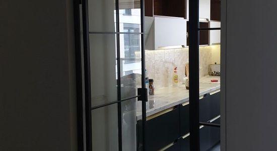 Drzwi loftowe LOFT industrialne metalowe szklane producent szklanych Bydgoszcz 4