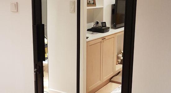 Drzwi do łazienki LOFT loftowe czarne industrialne Warszawa 4