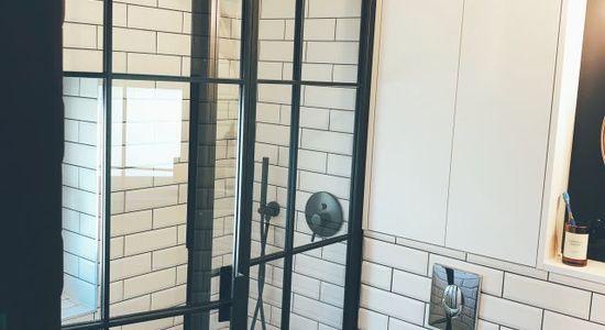 Czarna kabina prysznicowa LOFT industrialna producent Szczecin Bydgoszcz 5