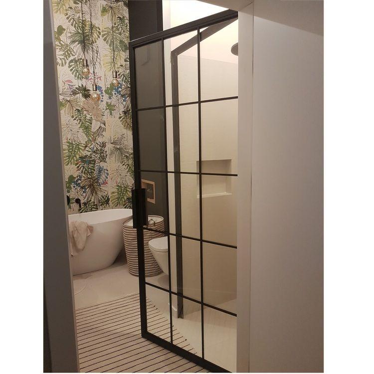 Industrialne szklane drzwi kabina prysznicowa Warszawa Bydgoszcz