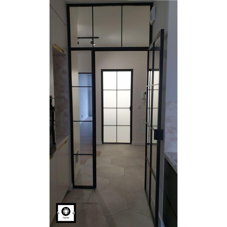 Drzwi loftowe LOFT industrialne metalowe szklane producent szklanych Bydgoszcz