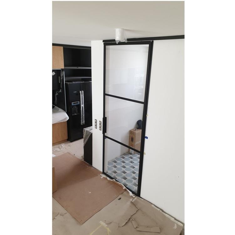 Drzwi przesuwne szklane LOFT loftowe stalowe industrialne ściana dla Aleksandry G. | Warszawa