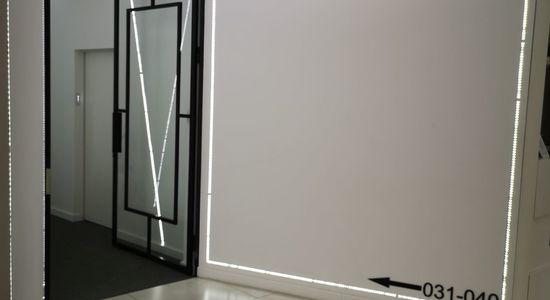 Drzwi industrialne LOFT z zamkiem Hotel Nad Kanałem Bydgoszcz Mag Haus producent 4