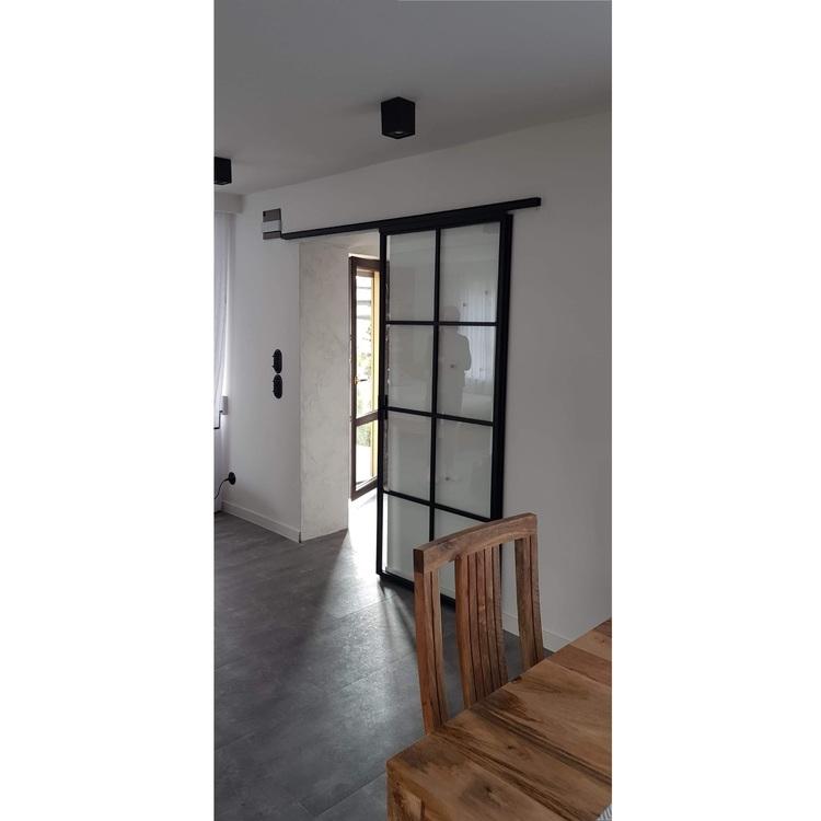 Drzwi przesuwne industrialne loft LOFTOWE szklane przeszklone metalowe producent Aleksandrów Łodź 2