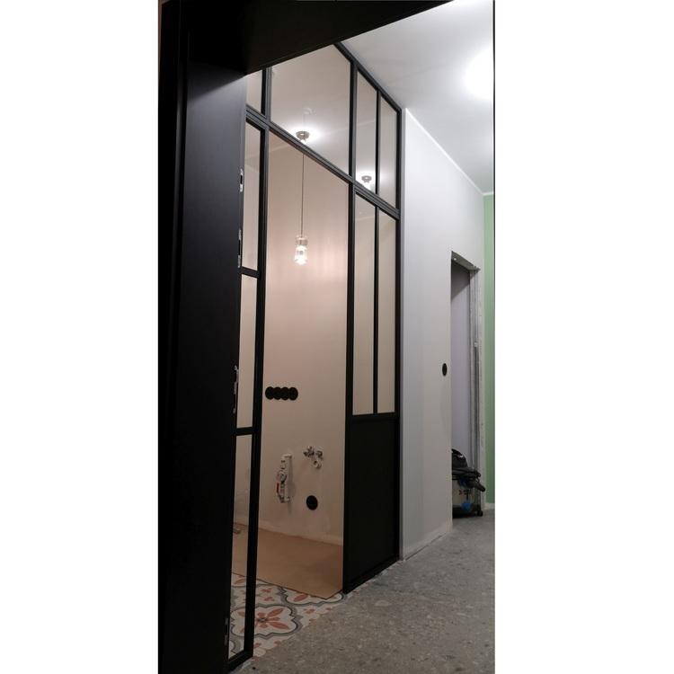 Ścianka ze szkła drzwi dla Izy Tuszyńskiej ściany szklane producent LOFT Poznan